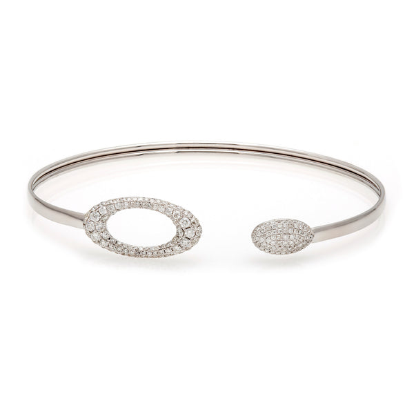 Pavé Diamond Oval Bangle-50% OFF! ONLY 1 LEFT!