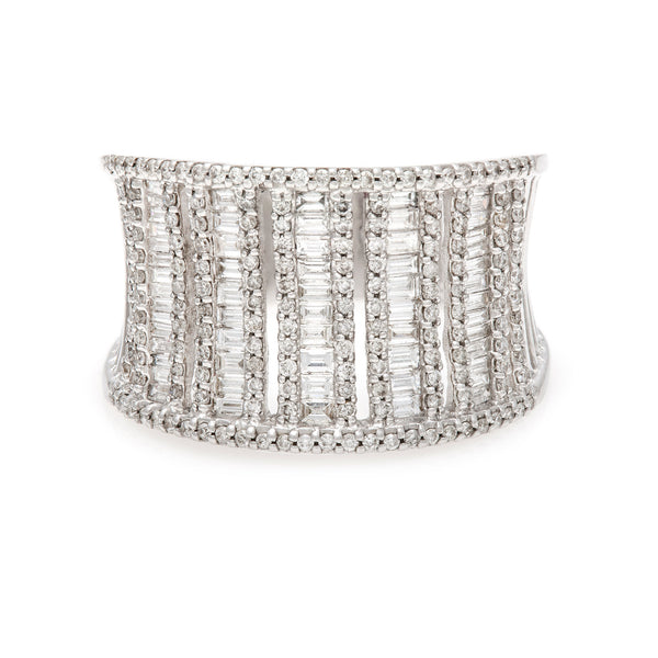 Column of Diamond Baguettes Ring- 60% OFF! LOWEST PRICE EVER!