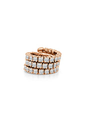 The Twist 3 Row Diamond Ring