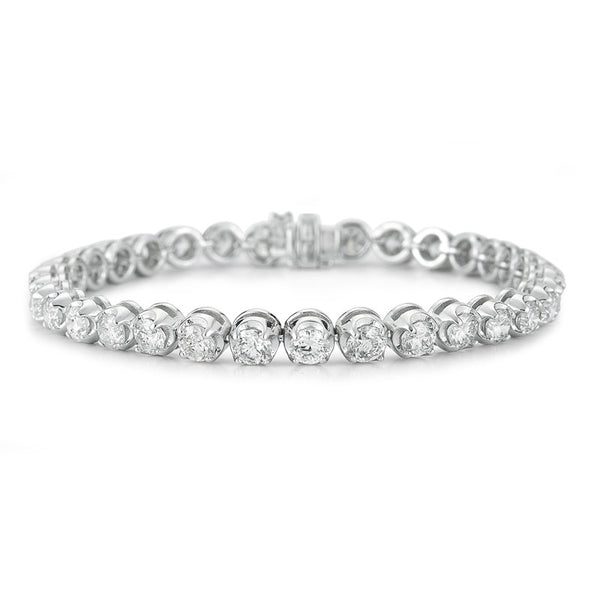 Graduated Diamond Tennis Bracelet- 50% OFF--ONLY 1 LEFT!