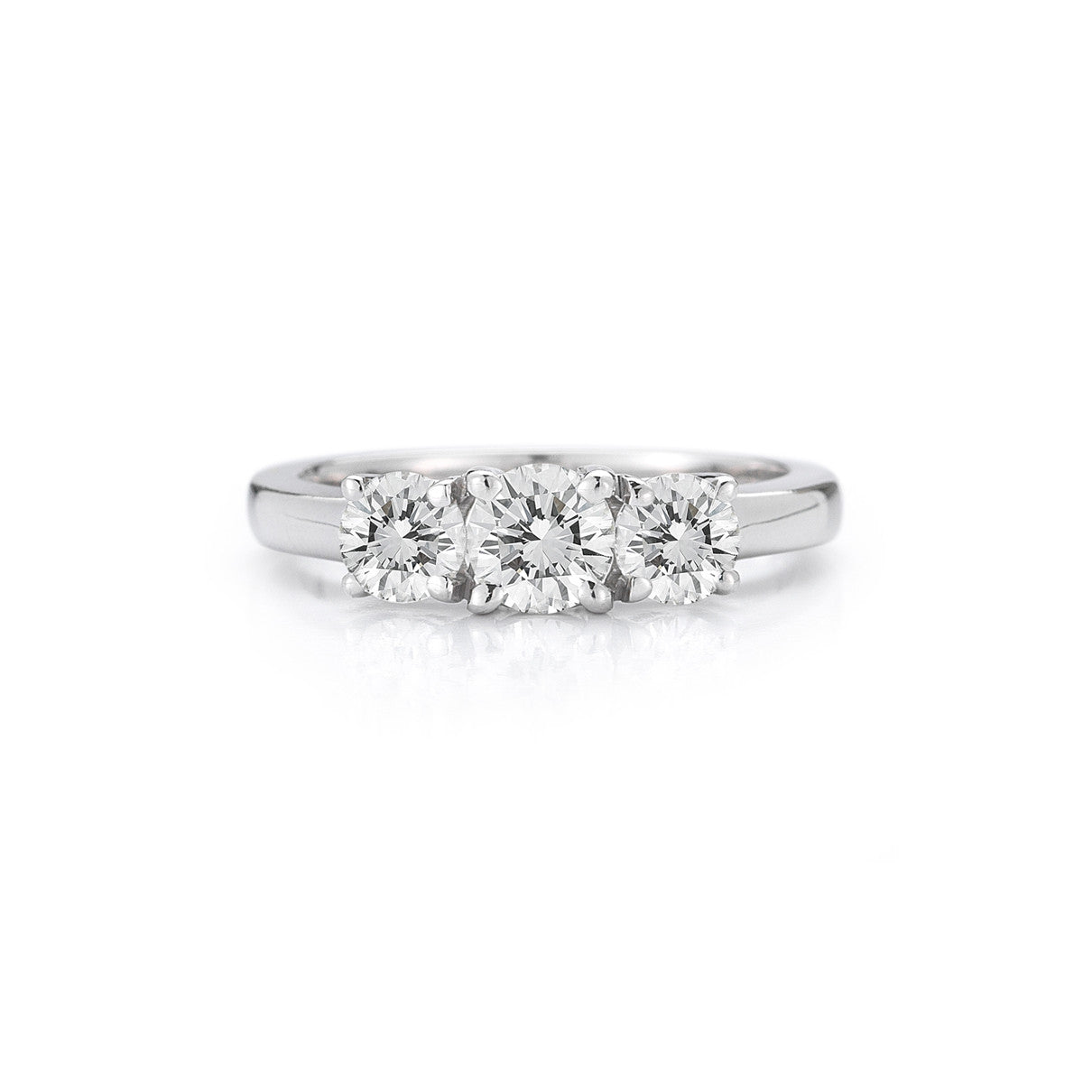 The Maharani Round Trilogy Engagement Ring