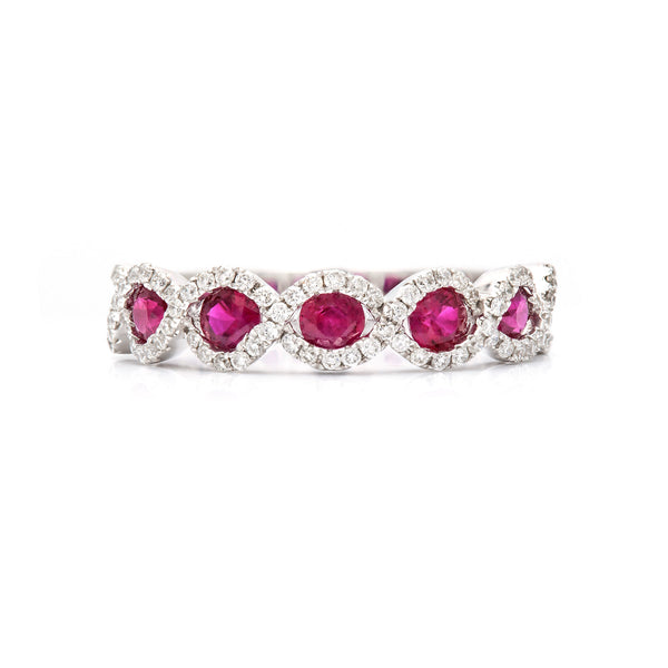Intertwined in Rubies and Diamonds Ring-50% OFF!