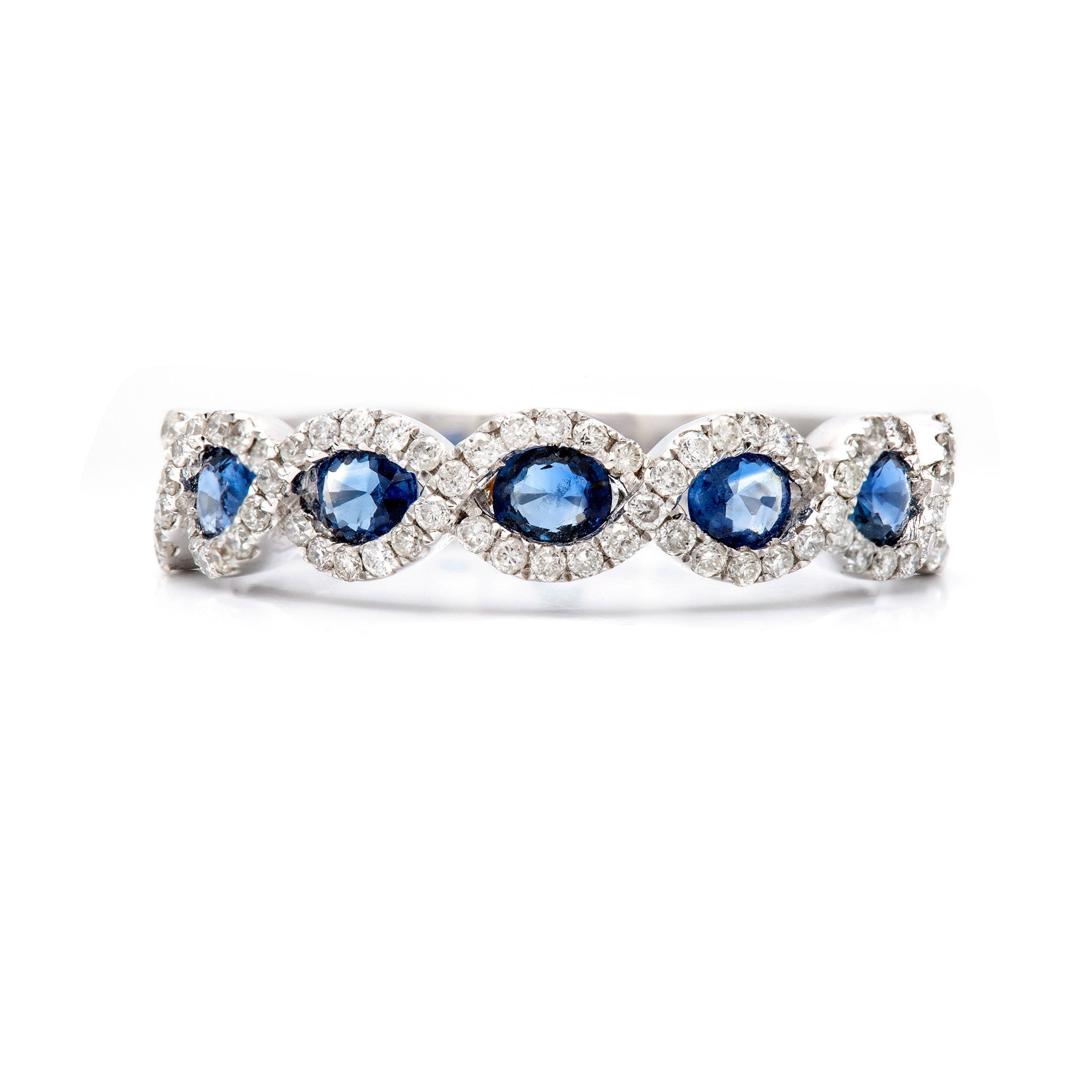 Intertwined in Sapphires and Diamonds Ring-50% OFF!