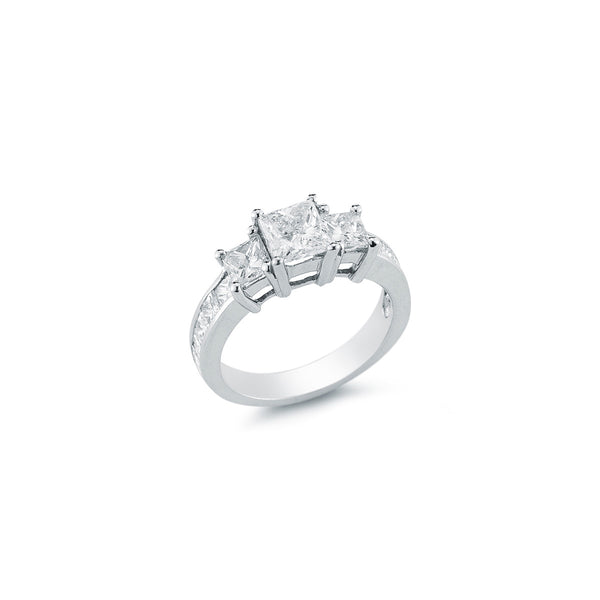 The Maharani Princess Trilogy Engagement Ring with Diamonds