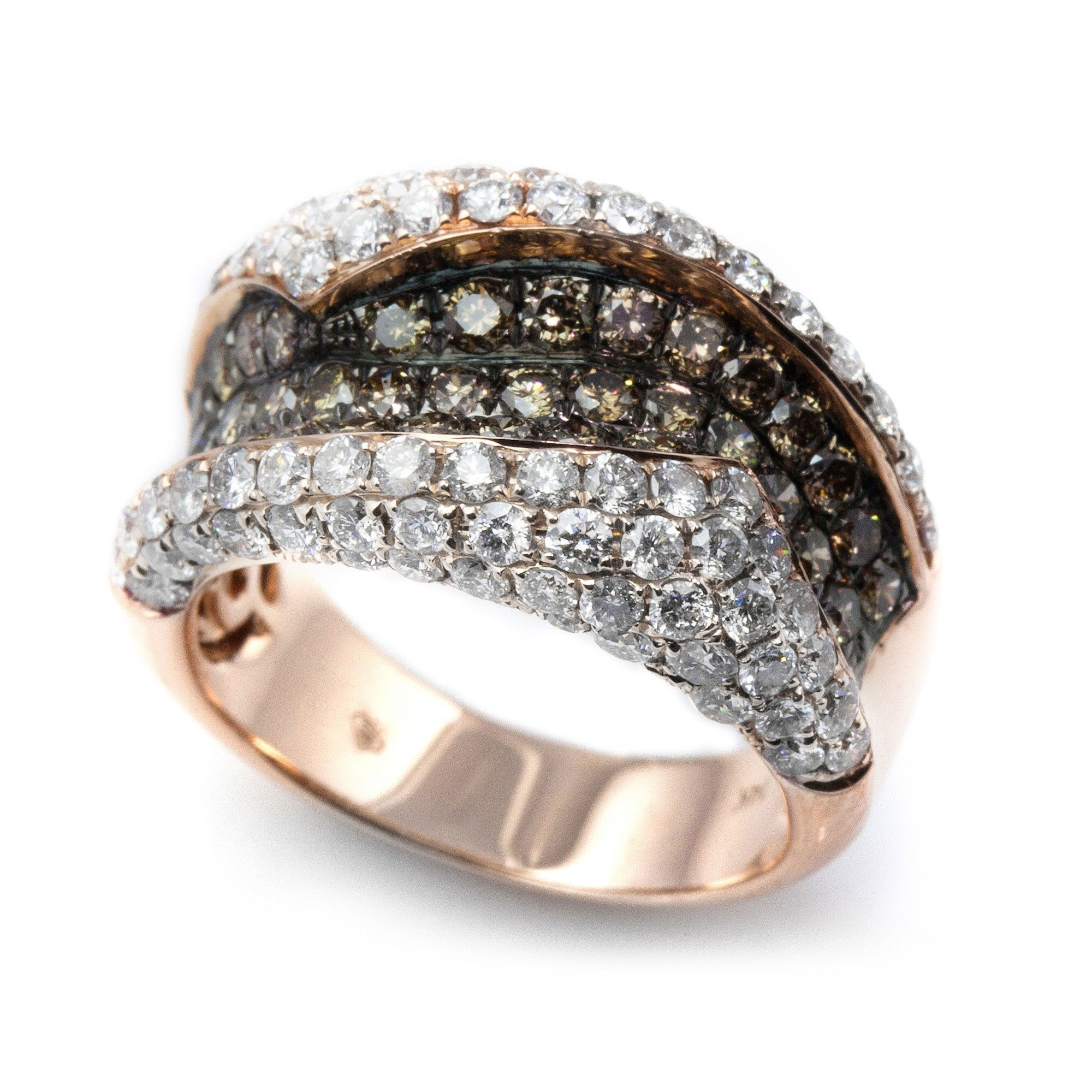 Wrapped in Champagne & White Diamonds Ring