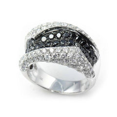 Wrapped in Black & White Diamonds Ring