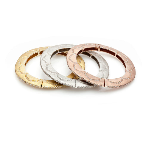 Lotus Oval Bangle--60% OFF! ONLY ROSE AND YELLOW LEFT!