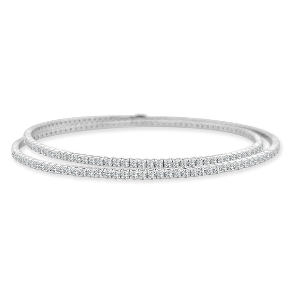 The Double Row Twist Diamond Bracelet