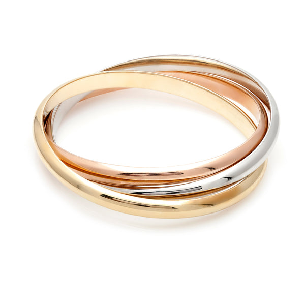 Tri-Color Gold Bangle-50% OFF!