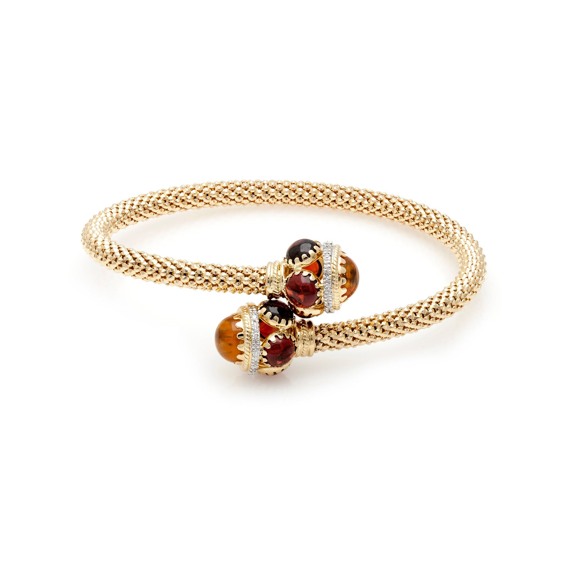 Gold Mesh & Coloured Stone Wrapped Bangle-40% OFF!