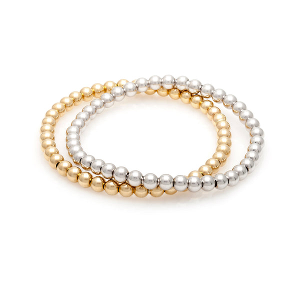 Gold Bead Stretch Bracelet—50% OFF—FINAL MARKDOWN!