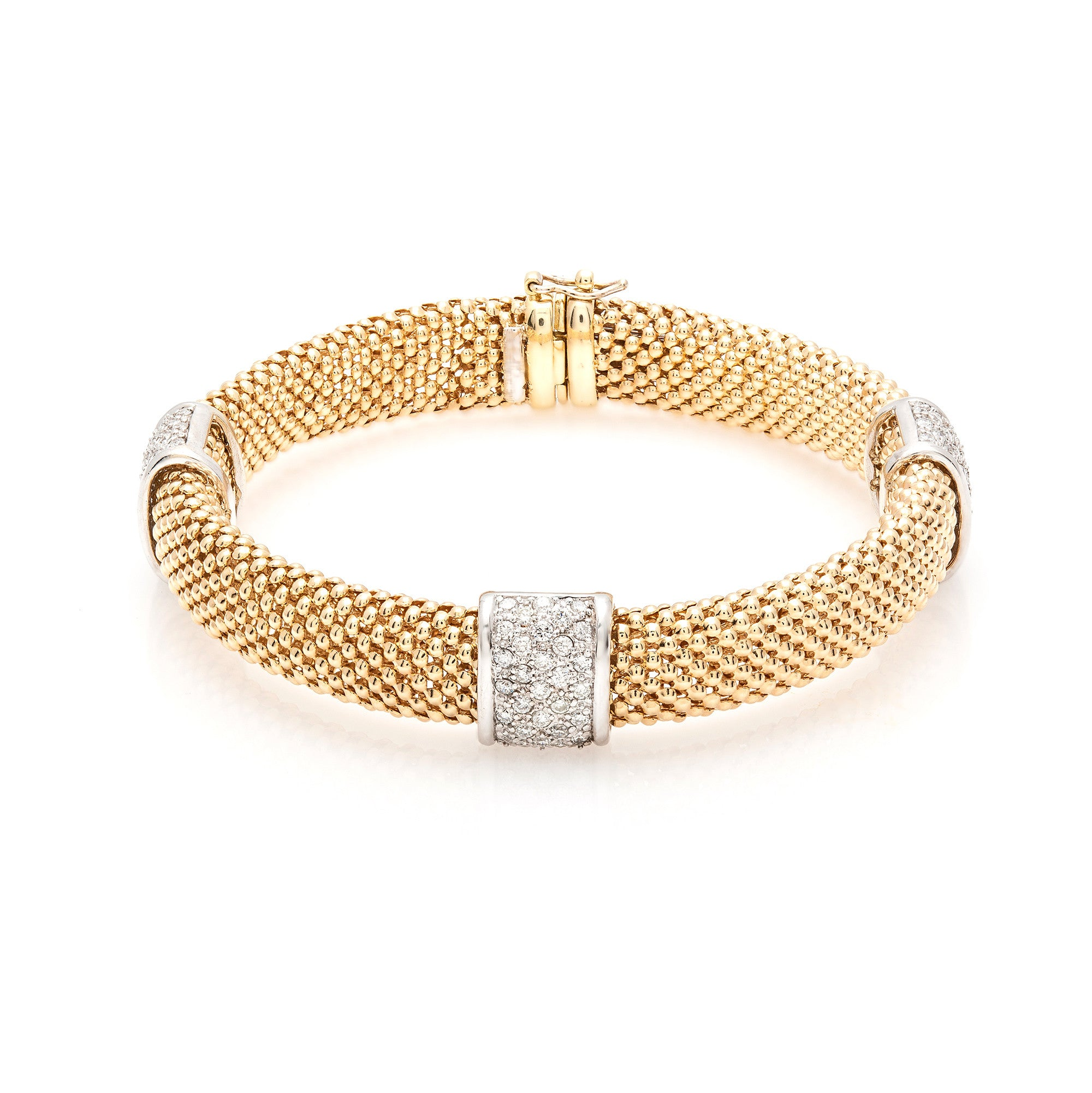 hulchi ball with belluni pave stackable large bangles stretch products station gold bangle yellow bracelet diamond