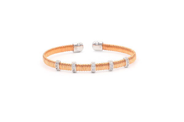 Narrow Stackable 5 Bar Bangle