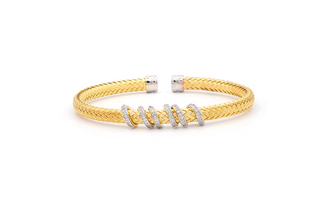 Wrapped in Mesh Gold Plated Bangle--50% OFF