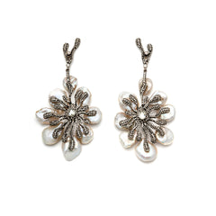 Diamond Pearl Tree Earrings-30% OFF