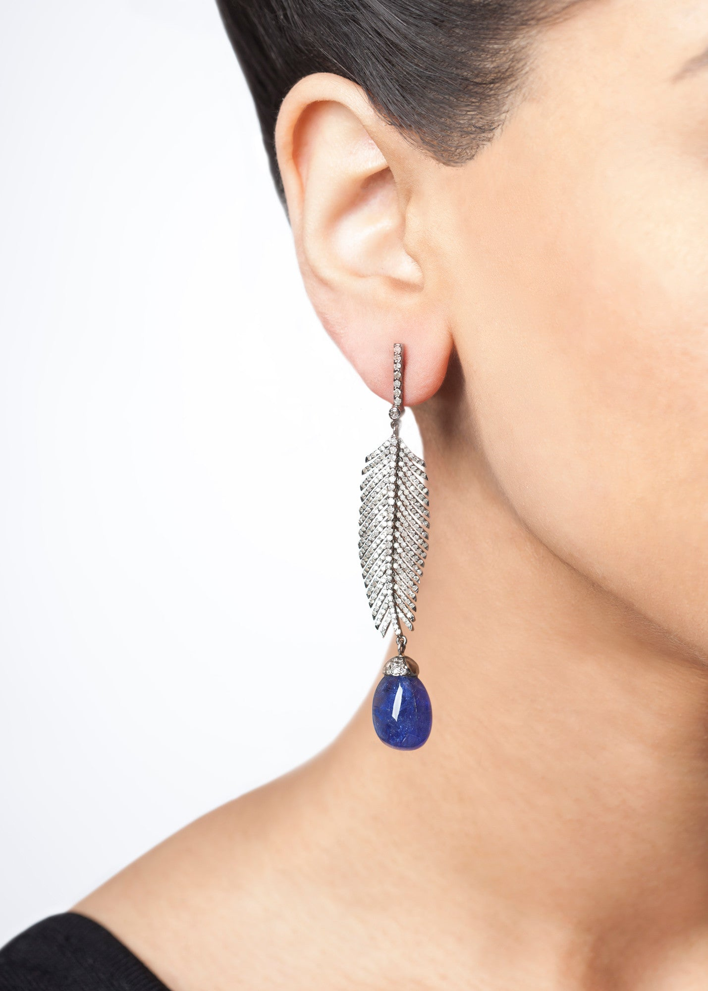 Diamond Feathers and Tanzanite-40% OFF!