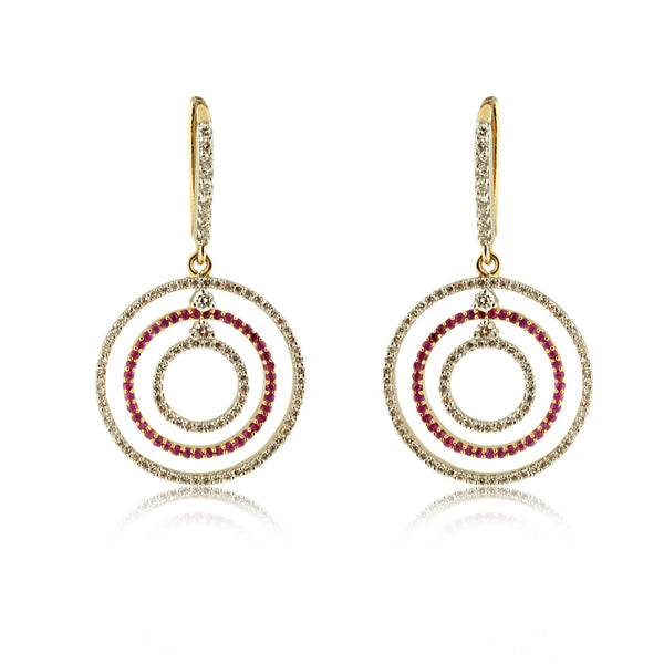 Circle d'amour earrings