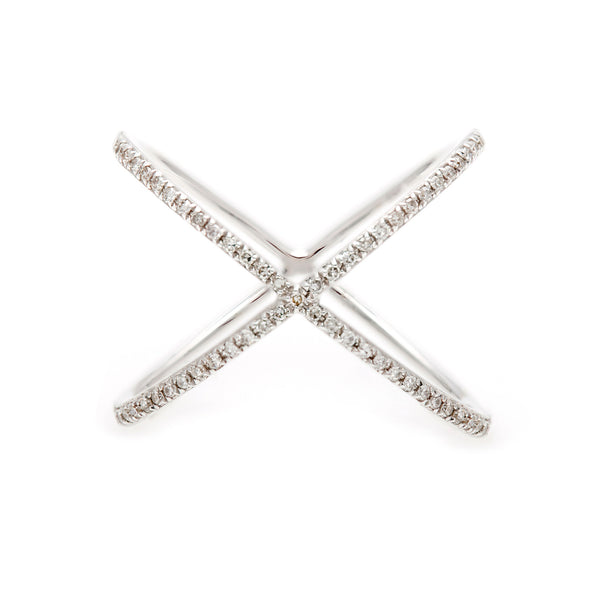 Criss-Cross Diamonds Ring- 30% OFF!