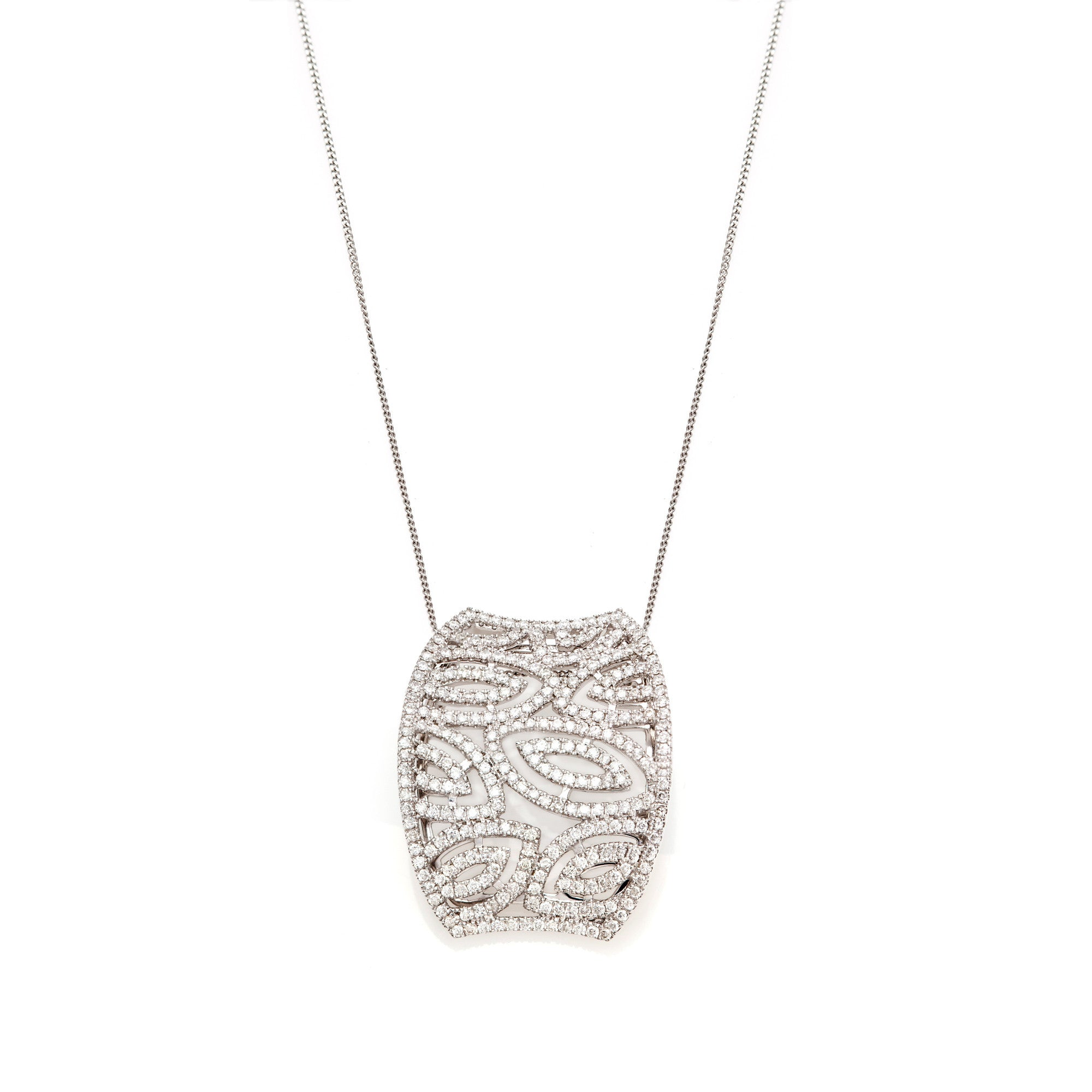 Pavé Diamond Curved Pendant-50% OFF!