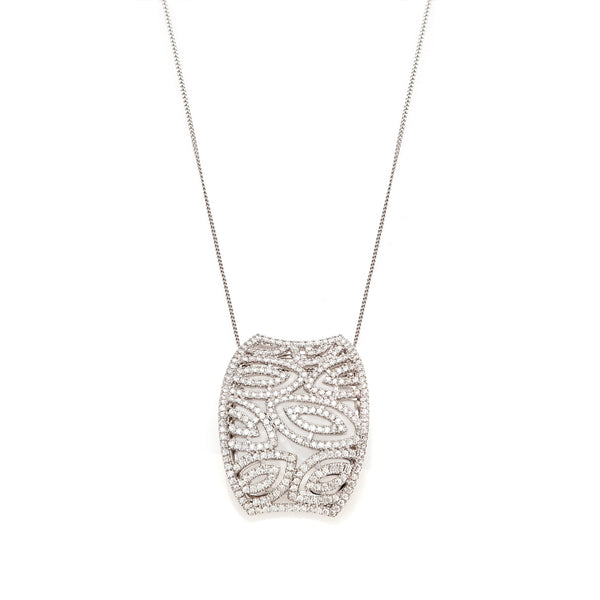 Pavé Diamond Curved Pendant-65% OFF!