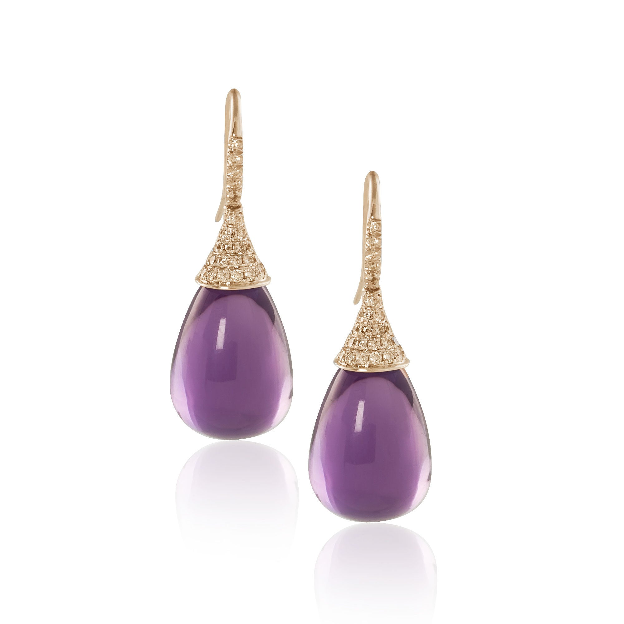 Naughty Amethyst and Diamond Teardrops--60% OFF!