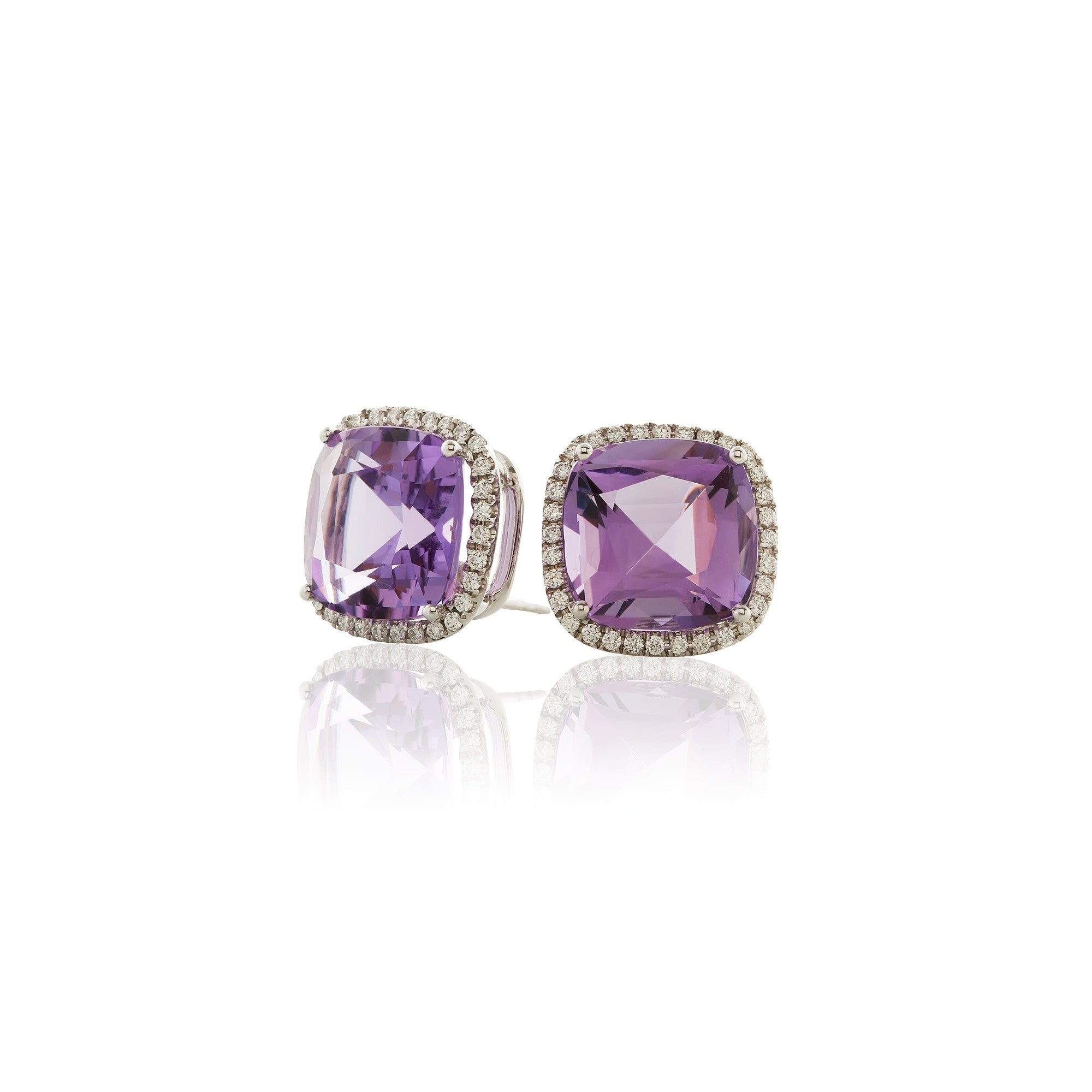 Gossip Amethyst and Diamond Earrings