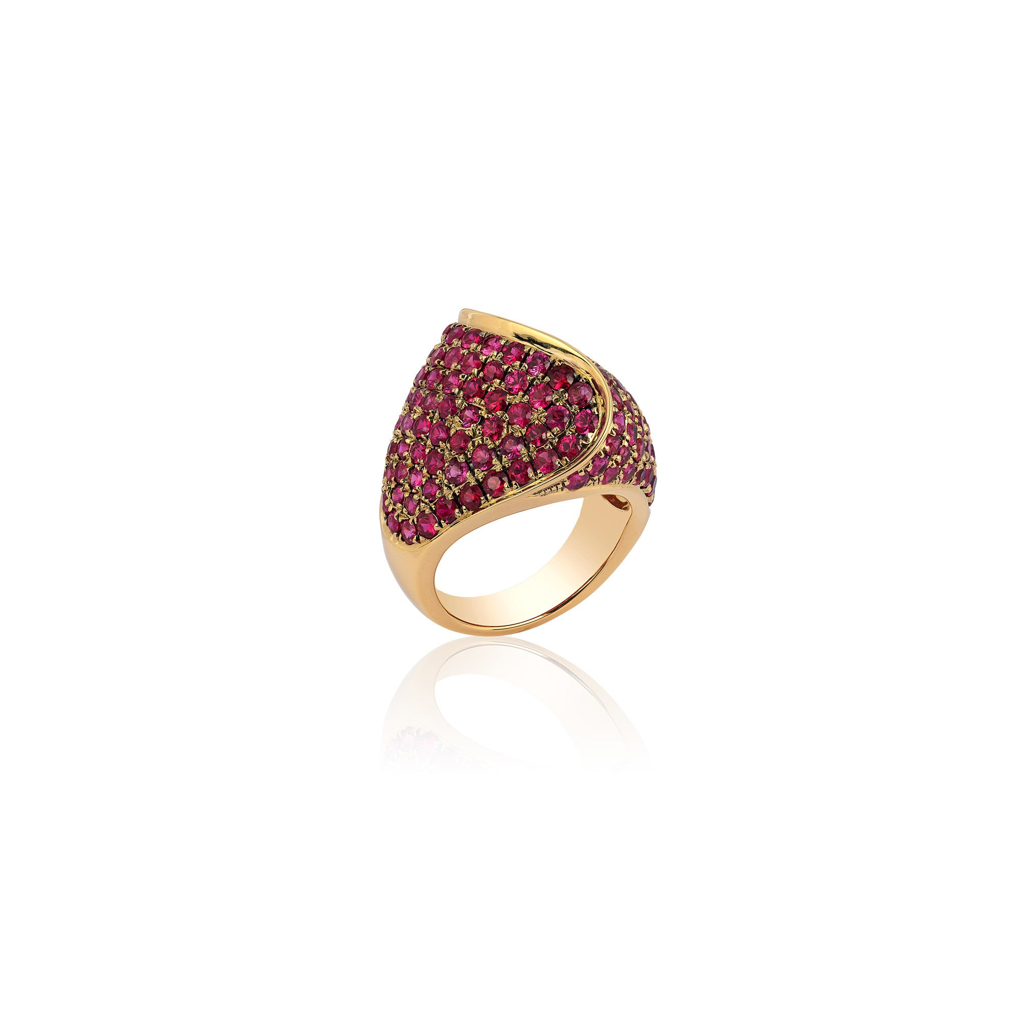 G-One Large Pavé Ruby Ring