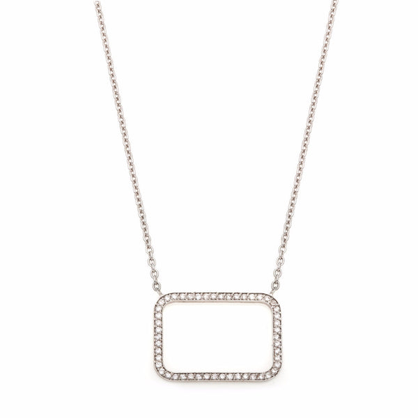 Square Diamond Outline Necklace-55% OFF!