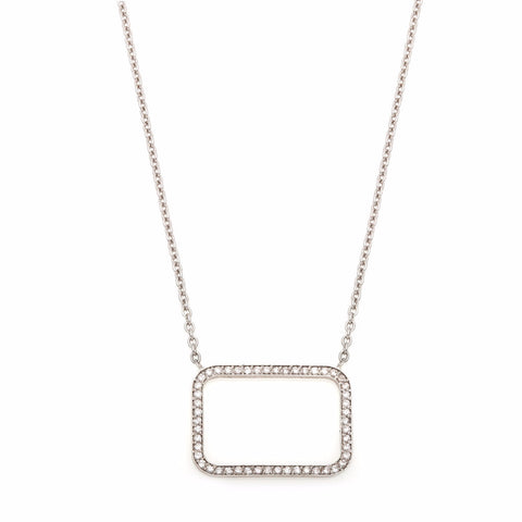 Square Diamond Outline Necklace-50% OFF!