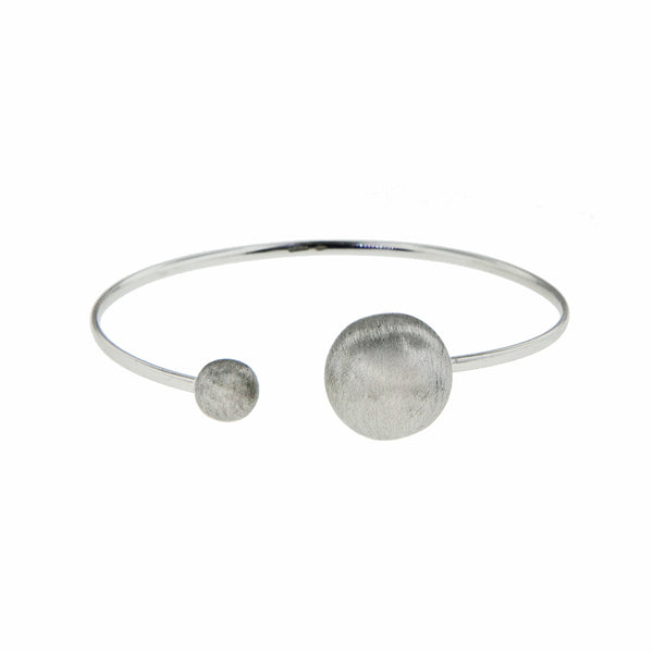 Brushed Finish Circle Cuff