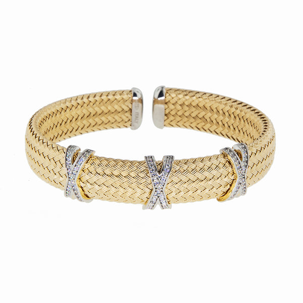 Wide Criss-Cross Cuff--60% OFF!