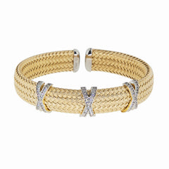 Wide Criss-Cross Cuff