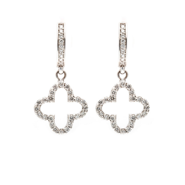 Clover Drop Hoop Earrings-60% OFF!
