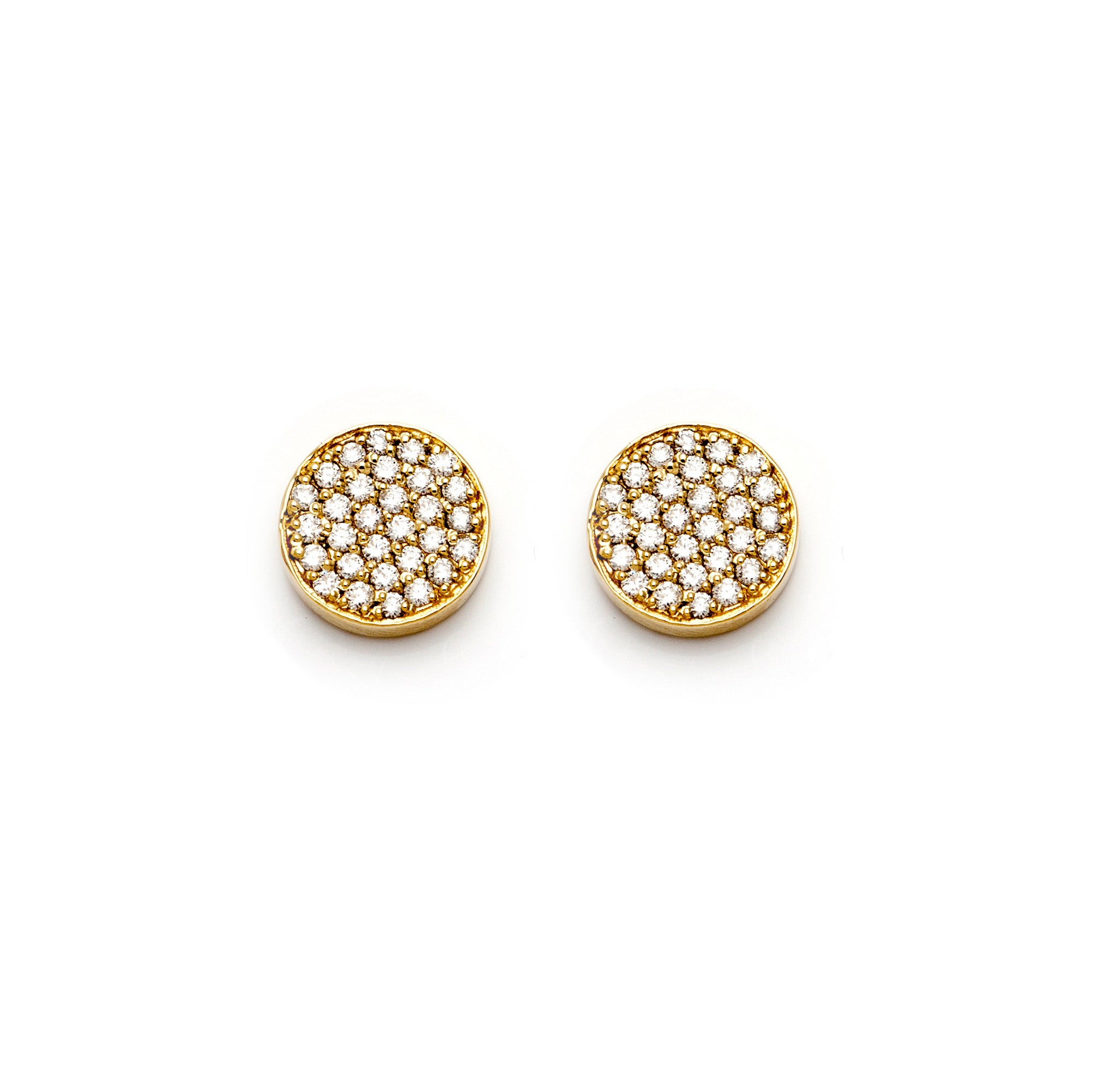 Yellow Diamond Circle Studs-50% OFF!