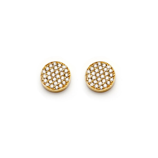 Yellow Diamond Circle Studs-70% OFF!--SOLD OUT!
