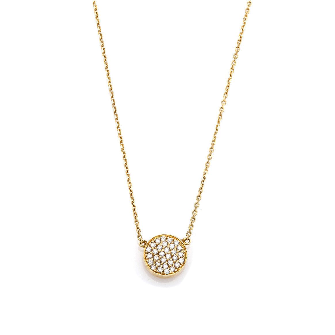 Yellow Circle Diamond Pendant-50% OFF!