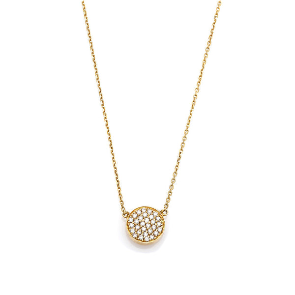 Yellow Circle Diamond Pendant-SOLD OUT!