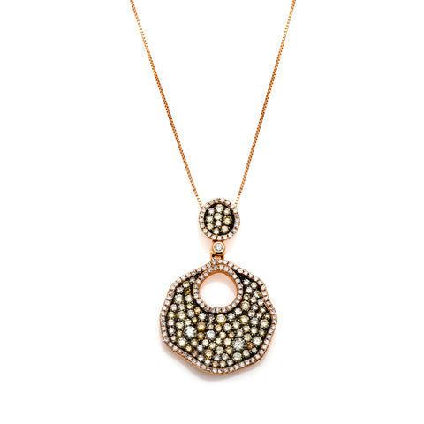Champagne Lily-Pad Pendant-60% OFF!