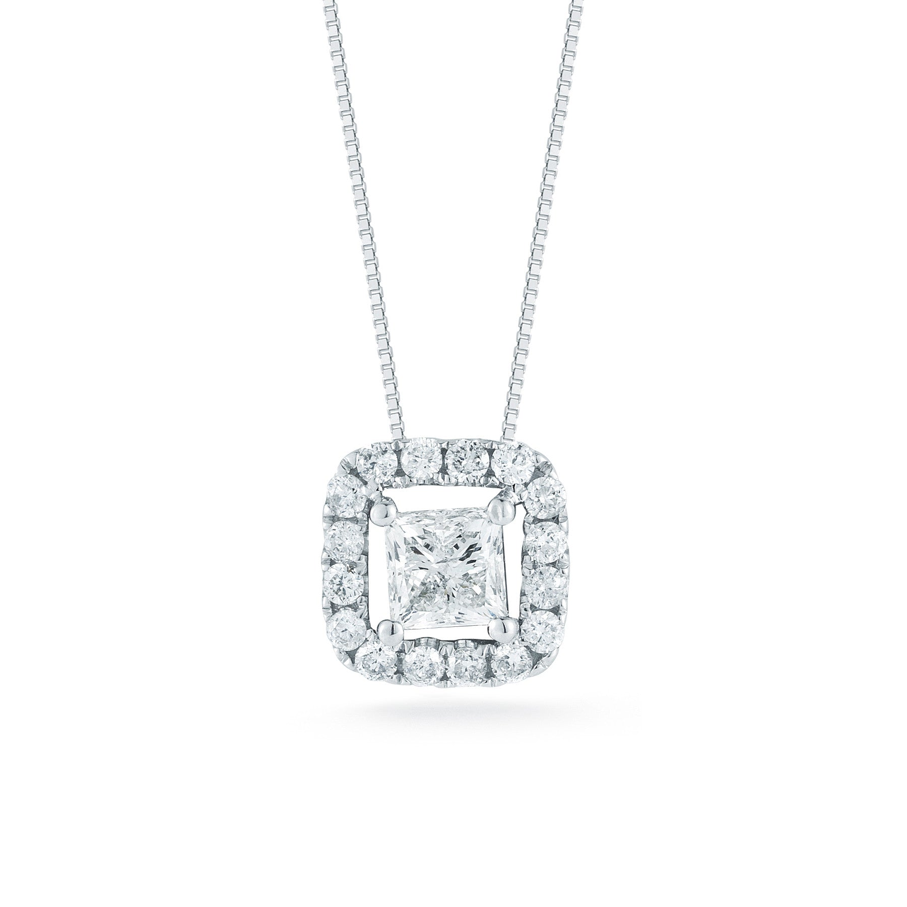 winsor cut bishop single pendant princess stone
