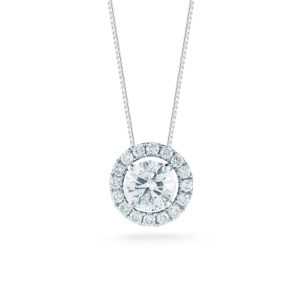 Four Prong Round Diamond Halo Pendant—20% OFF ON SELECT SIZES!