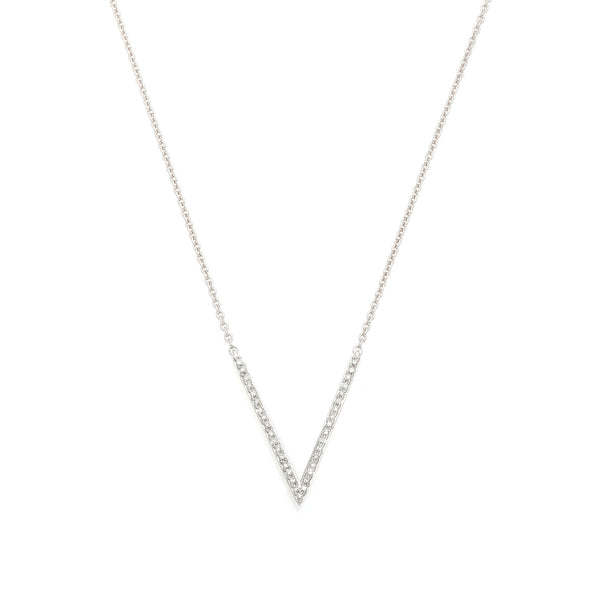 The 'V' diamond Necklace--50% OFF--ONLY 1 LEFT!