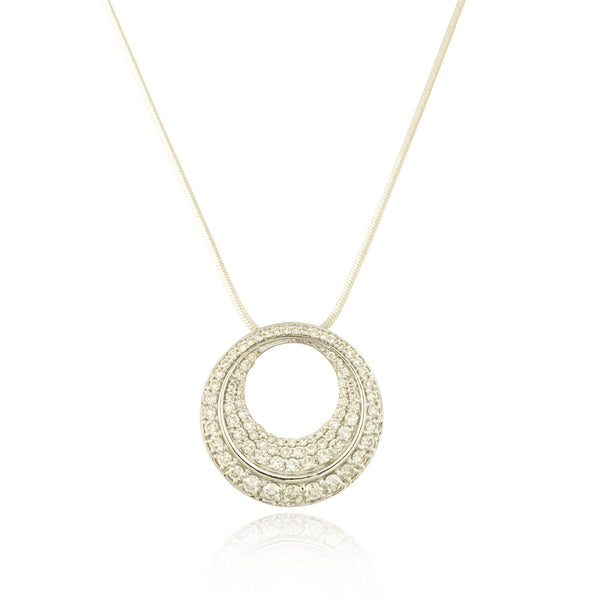 White Diamond Round Shaped Pendant