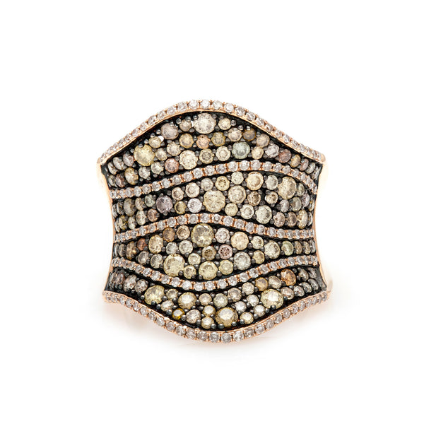 The Diamond Mosaic Ring-60% OFF!