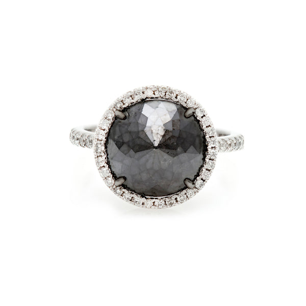 The Upside Down Black Diamond  Ring