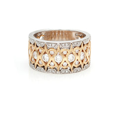 The Intricate Two-Tone Ring