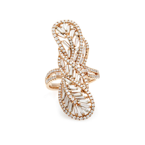 Paisley Diamond Baguettes Ring-20% OFF!