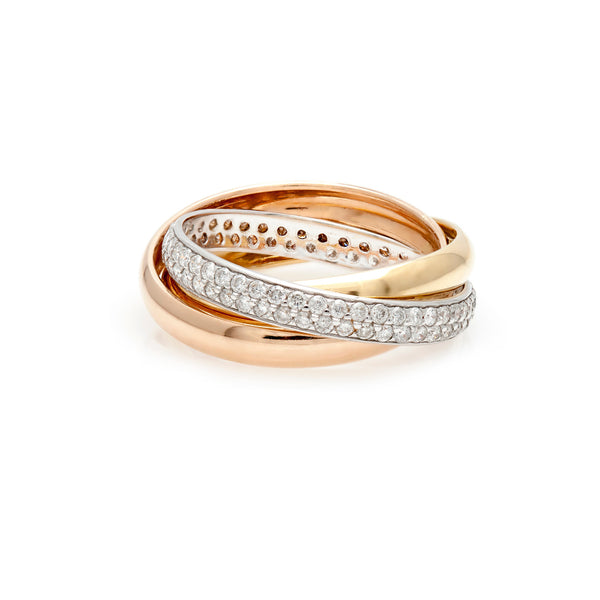 Tri-color Diamond Ring-50% OFF!