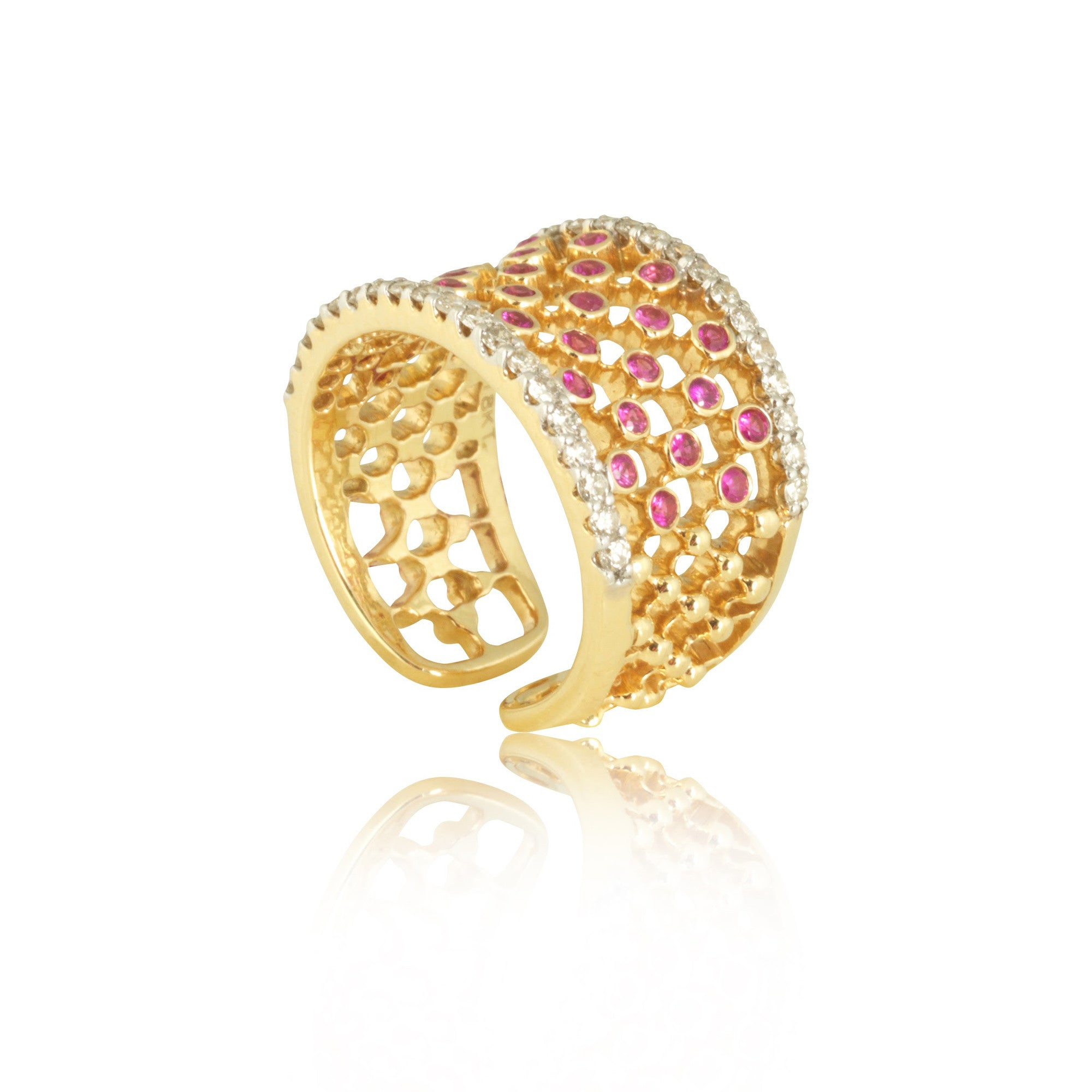 Ruby Net Style Ring