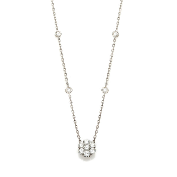 Cluster Diamond Necklace-50% OFF!