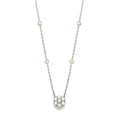 Cluster Diamond Necklace-30% OFF!